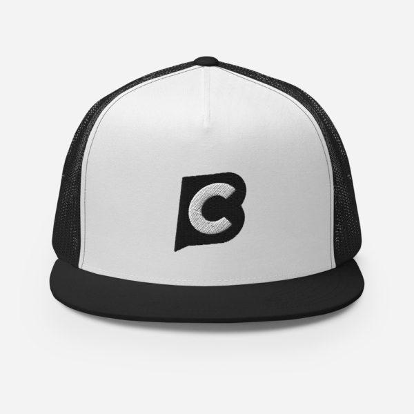 5 panel trucker cap black white black 5fecc089a79f8 Ciaburri Brand Alt Logo Trucker Cap