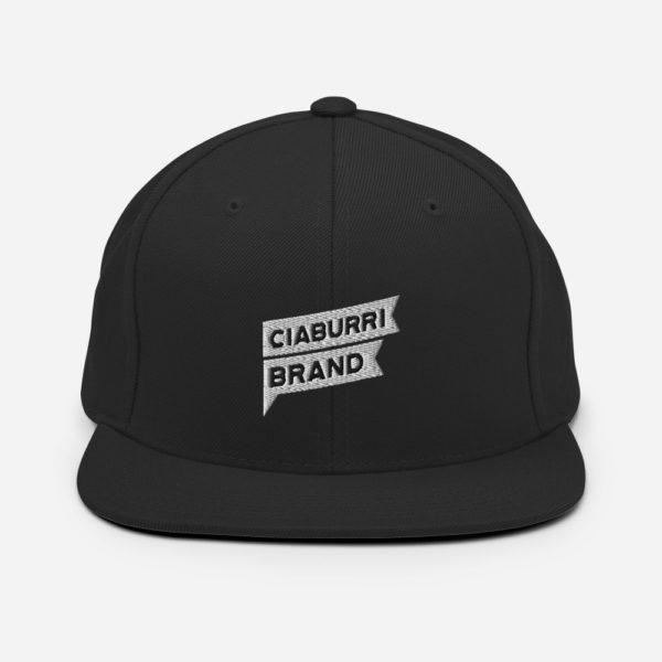 classic snapback black 5fed584b42b06 Ciaburri Brand Logo Snapback Hat