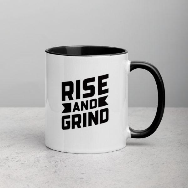 white ceramic mug with color inside black 11oz 5fed556b6d853 Ciaburri Brand Rise and Grind Mug