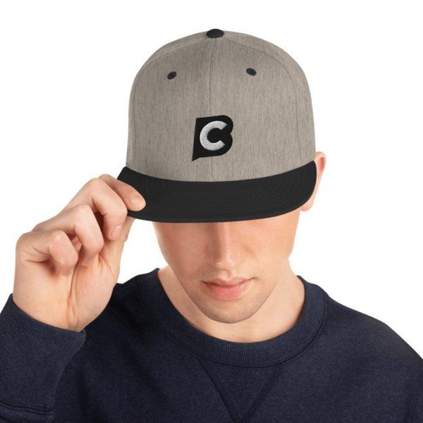 classic snapback heather black front 602054cae690e Ciaburri Brand Snapback Hat