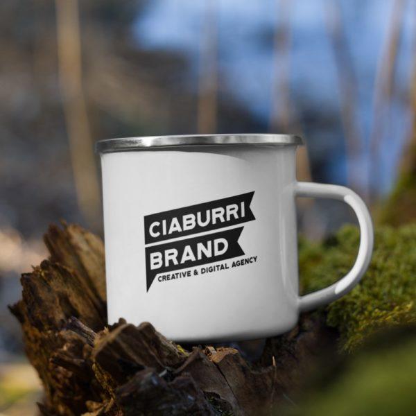 enamel mug white 12oz right 6020512f2cbab Ciaburri Brand Enamel Mug